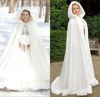 2016 Плюс размер Зимние Люкс мыс искусственный мех Рождество Плащи Куртки с капюшоном Платки идеальный свадебный Обертывания Абая Свадебные платья