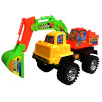 Wholesale Toy Vehicles Inertia Engineering Excavator Cars Diecast Car Brinquedos Juguetes Children s Toys Gifts