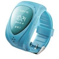 Niños impermeables reloj de pulsera inteligente GPS Tracker SOS Vigilancia de llamadas de dos vías en tiempo real Anti-perdidos Tracking dispositivo Locater para niños