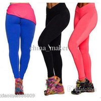 Wholesale HOT Women High Waist Tights Leggings Fitness YOGA Sport Tights Running Pants