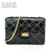 Wholesale CMK KB148 Colors Transparent Jelly Shoulder Bags for Girls Women Handbags Candy ColorsCrossbody Bag Diamond Lattice Chain
