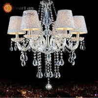 applied quality assurance - 6 head crystal pendant lamp led series item Apply restaurant mall quality assurance order lt no track