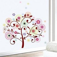 Cheap Wisdom Wishing Scroll Tree Wall Sticker Decor Decals Art Removable Vinyl
