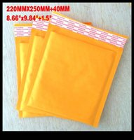 bubble envelope - Packing Bags quot x9 quot mmx250mm Kraft Paper Air Bubble Envelope Paper Airmail Bag Mailers Without Printing For Shipping