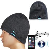 active microphone - Bluetooth Music Hat Soft Warm Beanie Cap with Stereo Headphone Headset Speaker Mini Wireless Speaker Microphone