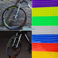 bicycle reflective stickers - EQA375 Bike Bicycle Popular Motorcycle Night Wheel Rims Reflective Flashing Stickers