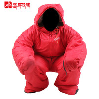 Wholesale Men Adult Camping Cotton Sleeping Bag Outdoor Indoor Warmer Clothing Mummy Sleeping Bag Human Leg Split RED