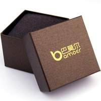 Wholesale Bamoer Brown Paper Gift Box for Watch Wristwatch Packaging CM BZ0015