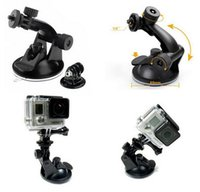 Wholesale Professional Tripod Degree Rotation Car Suction Cup Mount Camera Stand for Gopro Hero SJ4000 Xiaomi Yi Action Camera