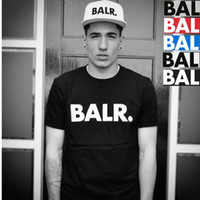 Wholesale Guarantee the High quality NEW fashion summer style balr t shirt men colors street Tide brand personality male short sleeve T shirt