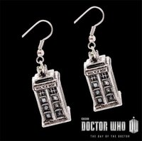 antique silver ring box - dr doctor who earrings vintage antique silver tardis police box drop earrings jewelry for women