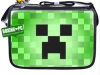 Wholesale Minecraft creeper Kids messenger bag Children Birthday Gift schoolbag Computer single shoulder Bags K129