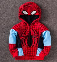 Wholesale MOQ spring girl and boy coat Hoodies Hulk Iron Man Captain America children clothes kid fashion jacket Children s Outwear free ship
