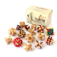 ancient china toys - China ancient educational wooden toys D wood IQ jigsaw brain teaser puzzle for adults puzle games