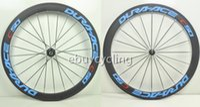 Cheap Powerway R36 carbon wheels bike clincher road wheels full carbon bicycle wheels 700c tubular wheelset blue C50 Dura ace carbon rims sale