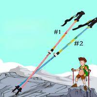 Wholesale 2Pack Ultralight Hiking Stick Alpenstock Adjustable Telescoping Highly Durable Carbon Fiber Pole Trekking Pole For Kid