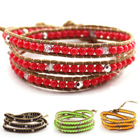 Wholesale Mixed European Style Charm The Hottest High end Leather Cord Wrapped Bracelet Sterling Silver Fashion Jewelry
