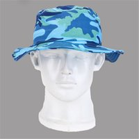 military hats - Childrens Sun Hats Mix Color Military Bush Hat Sun Protection High Quality Cotton Materials Outdoor Fishing Caps gzym15