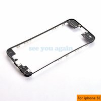 Wholesale 100pcs For iPhone S C Front LCD Frame Bracket Housing Middle Bezel Free M Adhesive Sticker Replacement Parts