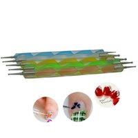 Wholesale High Quality Way Nail Art Dotting Pens Marbleizing Tools Kit Manicure Painting Dot tool Set Nail Tools