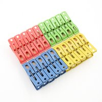 Wholesale New Heavy Duty Clothes Pegs Plastic Hangers Racks Clothespins Laundry Clothes Pins Color Hanging Pegs Clips