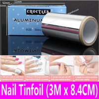 hair remover gel - Nail Art Hair Nail Tinfoil Aluminum Foil Thick Hairdressing Standard Silver Paper for Acrylic UV Painting Gel Polish Remover