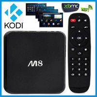 Wholesale 2015 Android TV Box M8 Amlogic S802 Smart TV Set top Box Quad Core G G Android K XBMC Kodi media player