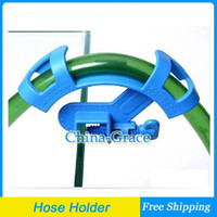 Wholesale New Aquarium Filtration Water Hose Holder Pipe clamp For Fish Tanks Blue