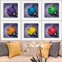 Wholesale DIY Rose Diamond Painting Round Rhinestone Pasting Decorative Paintings Diamonds Home Decoration