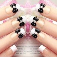 acrylic wedding nails - Elegant Wedding Crystal False Nail pc D Bride Floral Bling Crystal Acrylic False Full Nail Tip on Discount