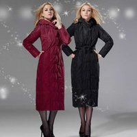 Wholesale 2014 New Womens Down coats hooded slim plus size x long outerwear coats Dropship