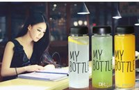 Cheap 500ml Korea Style Newest Design Portable Clear My Bottle Sport Bicycle Plastic Fruit Lemon Juice Water Cup