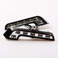 Cheap Ultra Bright 5W 12 V Daytime Running Light Car Styling led Day time Lights LED Car Driving Lamp 2pcs   Lots order<$18no track