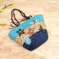 straw beach bag - New Fashion Womens Straw Handbags Summer Weave Woven Shoulder Tote Shopping Beach Bag Purse Handbag Straw Beach Bags Travel