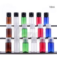 plastic bottles and containers - 10ml PET bottle with Flip Cap and clear reducer dropper container essential oil bottle sample bottles BPA free Travel