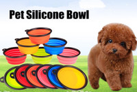 Wholesale 3PCS New Collapsible Dog Cat Pet Silicone Travel Feeding Bowl Water Dish Feeder