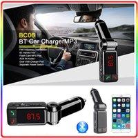 Wholesale BC06 bluetooth car charger BT car charger MP3 BC06 mp3 MP4 player mini dual port AUX FM transmitter