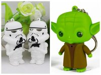 baby yoda - Pretty Baby star wars keychain stormtrooper yoda star wars led keychain with sound fashion classic key chains in stock