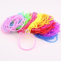 Wholesale Neon Color Rubber Bands Bracelet Bangle Friendship Silicone Rainbow Bands Bracelet Wristband Jewelry B190