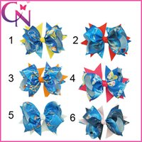 Wholesale 2015 new hot sale Cinderella bow hairpin inch boutique funky popular bows hair Yan balance due bows Cinderella children Hair Accessorie