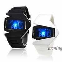 aircraft belt - 2015 new fashion LED Digital Watches for Men Women Children Silicone Belt Aircraft Sports colorful Watch Bracelet Wrist Watches