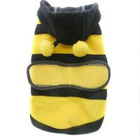 Wholesale Cute Fleece Bumble Bee Dogs Cat Pets Clothing Harness Costume Apparel Coat