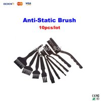 Wholesale set Conductive Ground Clear Anti static Brush for cleaning PCB or sensitive components