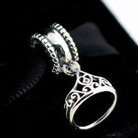 belle pendant - High quality Sterling Silver Belle Tiara Dangle Bead Fits European Pandora Jewelry Bracelets Necklaces Pendants