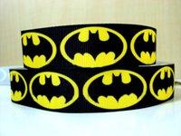 batman ribbon - Superhero Cartoon mm Grosgrain Printed Ribbon inch Batman Polyester Ruban Cintas for Handmade Bows Craft Accessories Webbing