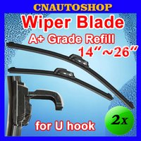 Wholesale Pieces Auto Frameless Wiper Blade Bracketless Natural Rubber Car Soft Windshield Sizes Choice quot quot