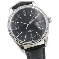 arrival series - New arrival hot Cellini Series k Silver mechanical watch Black leather Black Surface High quality automatic watch