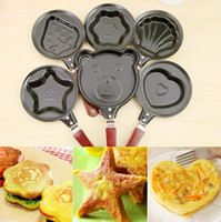 Wholesale Titanium small mini love Fried egg pan frying pan Fried egg pan mold creative breakfast