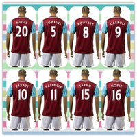 Wholesale New Product Uniforms Kit West Ham Jarvis Kouyate Carroll Zarate Downing Soccer Jersey United Red Home Jerseys shirt Full