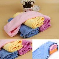 Wholesale New Hot Sale Microfiber Bath Bathing Quick Dry Hair Magic Drying Turban Wrap Towel Hat shower Cap Colors Drop Shipping